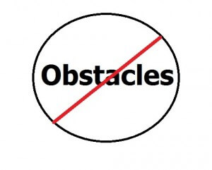 no obstacles
