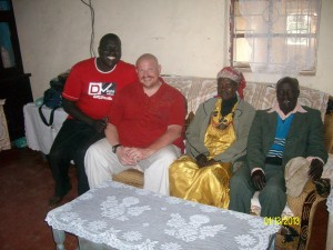 Sharing a meal with Pastor Kipto and his family