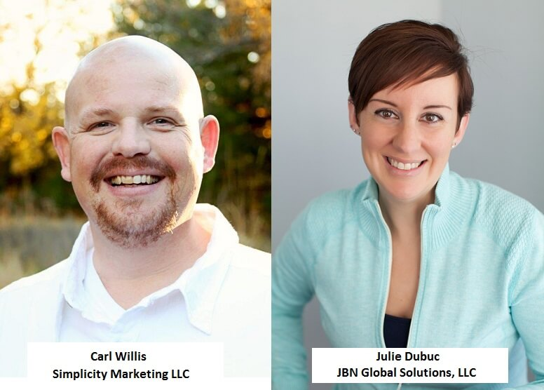 Carl Willis and Julie Dubuc webinar